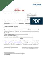 TIM BUSINESS modulo richiesta attivazione nocarta