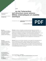 Bases de l'interraction sol - structure sous séisme -  Effets cinématiques et stabilité sismique.pdf