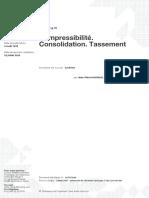 Compressibilité, Consolidation, Tassement