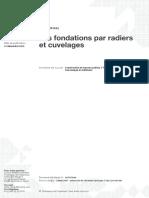 Les fondations par radiers et cuvelages