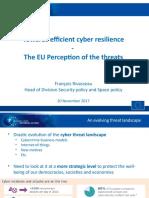 Mr. Rivasseau The EU perception of the threat