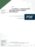 Sites Polués - Contamination des sols et des nappes phréatiques