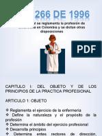 LEY 266 DE 1996 REGLAMENTACION