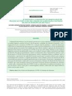 BOAS PRÁTICAS DE PRODUÇÃO E A PERCEPÇÃO DO MANIPULADOR EM RELAÇÃO AO COVID-19 EM UMA UNIDADE DE ALIMENTAÇÃO E NUTRIÇÃO MILITAR NO MUNICÍPIO DE SÃO PAULORESUMOO Manual de Boas Práticas COVID