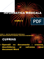 Curs 5 - Informatică medicală și biostatistică