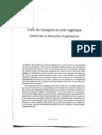 Coût du transport et coût logistique _ Spécificités et démarches d'optimisation