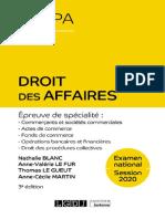 L3 Droit Des Affaires - corrigé