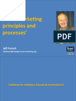 Social Marketing principles and processes