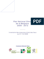 Plan national climat de la Belgique (2009 - 2012)