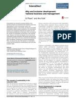 Corporate sustainability and inclusive development