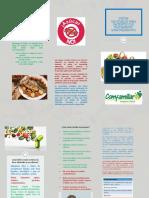 folleto de dieta quimio
