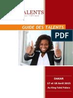 AFT Dakar 2015 -Guide des Talents