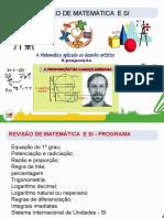 REVISÃO DE MATEMATICA, FÍSICA E SI - 13.2