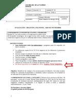 EVALUACIÓN I.  PrimeroMedioA.Unidad III.2020
