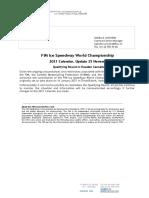 FIM Ice Speedway World Championship - 2021 Calendar UPDATE 25 November - Qualifying Round in Sweden Cancelled