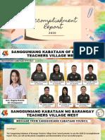 2020 SK ACCOMPLISHMENT REPORT