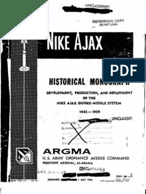 c2a8b73b6 Nike Ajax Historical Monograph 1945-1959 | Missile | Anti Aircraft ...