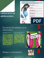 Prevención de embarazos en adolescentes folleto