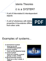 1 SYSTEMS THEORY