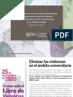 Eliminar las violencias en el ámbito universitario