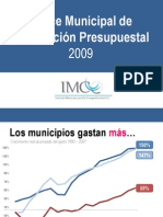 Indice Mpal Info Presupuestal 2009