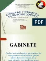 Presentación con las características de los gabinetes para PC-Matamoros Huaman Richard Rainer-pregunta N°1