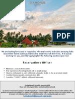 Job Flash - Reservations Officer