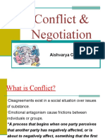 Conflicts & Negotiation