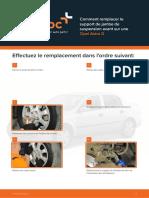 Comment remplacer le support de jambe de suspension avant sur une Opel Astra G