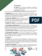 CONTROL DE COSTOS (GLOSARIO)