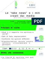 Slides Fake News e Miti Creati Media
