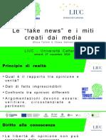 Slides Fake News e Miti Creati Media