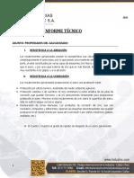 INFORME TECNICO - PROPIEDADES DEL GALVANIZADO