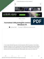 ▷ Formatear USB protegido contra escritura en Windows 10