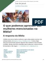 As mulheres mencionadas na Bíblia_ conheça bons e maus exemplos