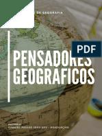 PENSADORES GEOGRÁFICOS