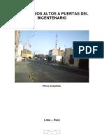 Barrios Altos a puertas del Bicentenario (67 imágenes).