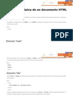 Lectura complementaria Estructura básica de un documento HTML