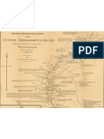 Historico-geographical chart of the upper Mississippi River section 1