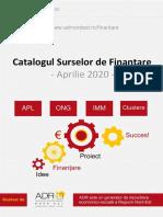 Catalog Surse Finantare