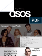 Advanced PR Planning Presentation, ASOS