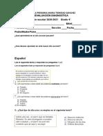 Evaluacion diagnostica de 4to grado