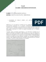TALLER LIMITES DE COLOMBIA -MECNISMOS DE PARTICIPACION