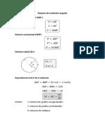 Sistema de medición angular y Sectores circulares