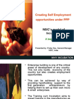 Creating Self Employment Opportunity Under PPP - NSIC-s