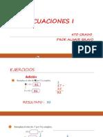 Ecuaciones i - 4to Primaria