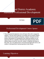 state and district academic standards professional development
