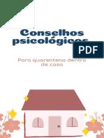 conselhos psicologicos para quarenta em casa