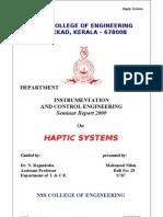 47832926-HAPTICS-Seminar-Report