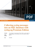 Collecting Syslog SQL DB